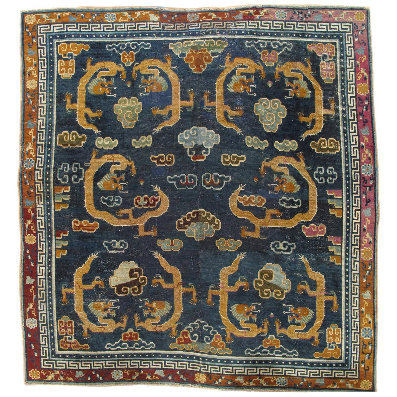 Antique Tibetan Rug: Antique Tibetan Carpet For Sale At 1stdibs
