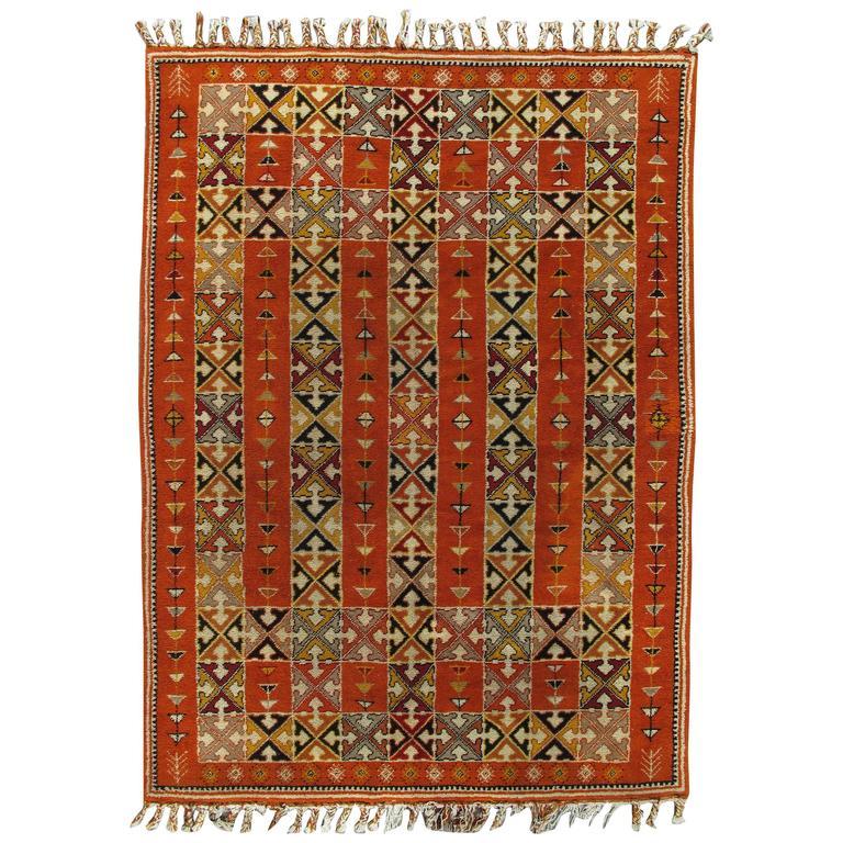 Vintage Moroccan Area Rug For Sale At 1stdibs: Vintage Moroccan Carpet For Sale At 1stdibs
