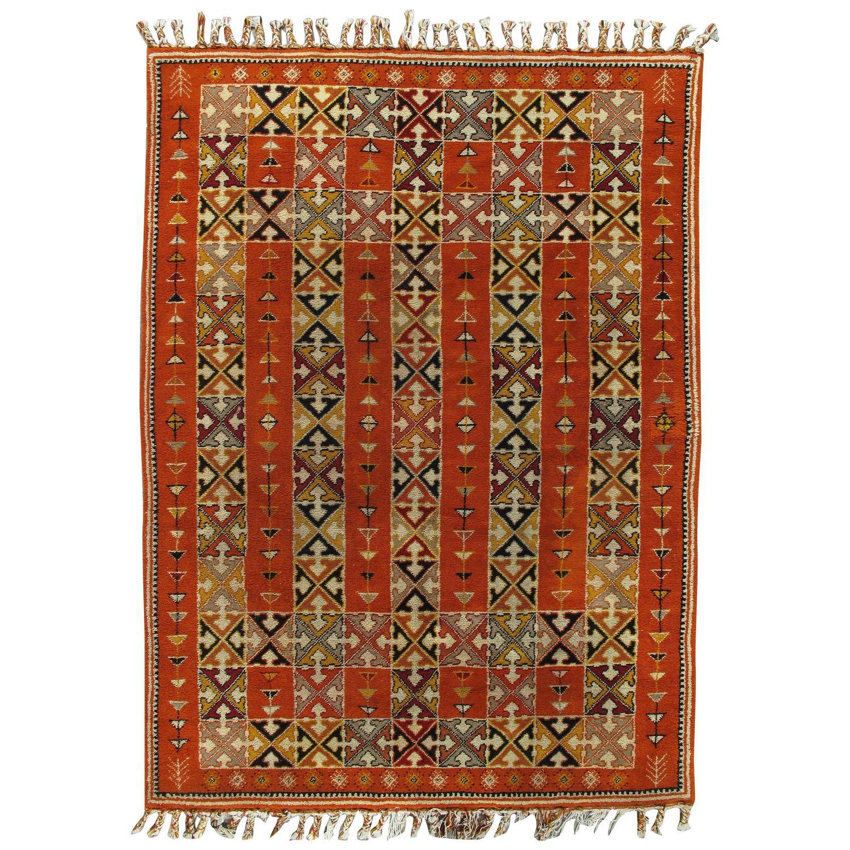Vintage Moroccan Carpet For Sale At 1stdibs
