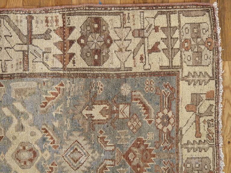 Antique Malayer Carpet Handmade Oriental Rug Ivory