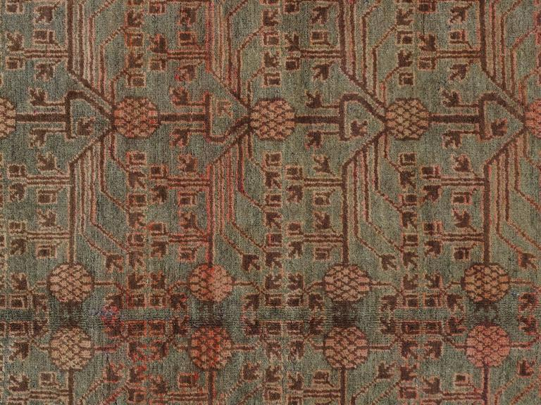 Antiqueand vintage Khotan rugs and carpets were produced in small villages of Eastern Turkestan, which today is a part of the Xinjiang region in Western China. This area has had a steady production of carpets since the 17th century, peaking in the
