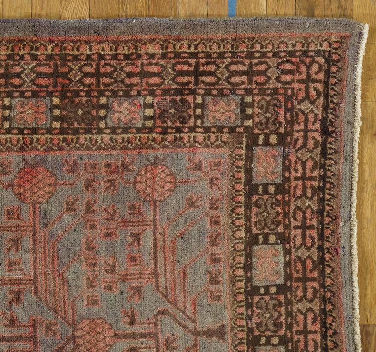Turkestan Vintage Khotan Rug, Handmade Oriental Rug, Soft shrimp, Beige, Brown, Allover For Sale