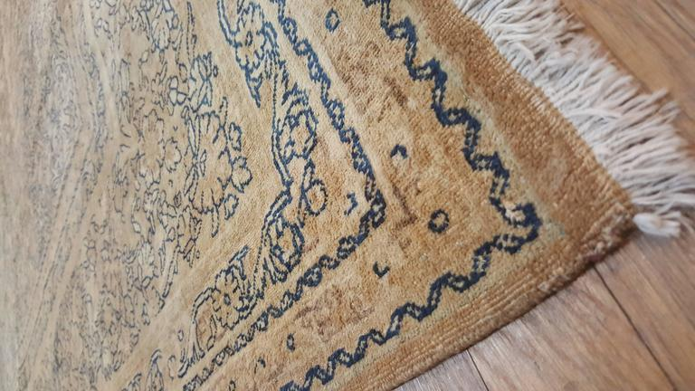 Antique Persian Kerman Carpet, Oriental Rug, Handmade In Excellent Condition For Sale In New York, NY