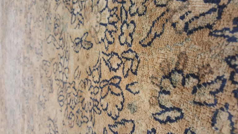 20th Century Antique Persian Kerman Carpet, Oriental Rug, Handmade For Sale