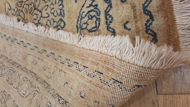 Wool Antique Persian Kerman Carpet, Oriental Rug, Handmade For Sale