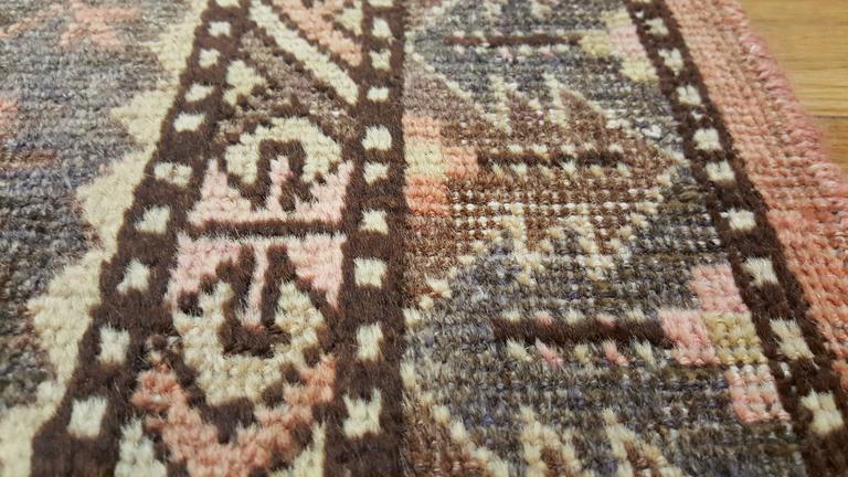 20th Century Vintage Khotan Rug, Handmade Oriental Rug, Soft shrimp, Beige, Brown, Char Gray For Sale