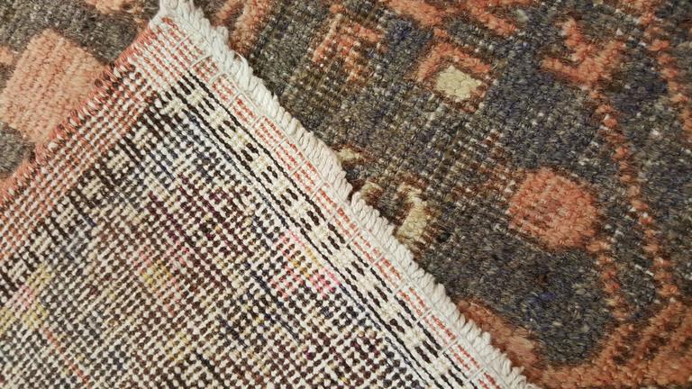 Vintage Khotan Rug, Handmade Oriental Rug, Soft shrimp, Beige, Brown, Char Gray For Sale 2