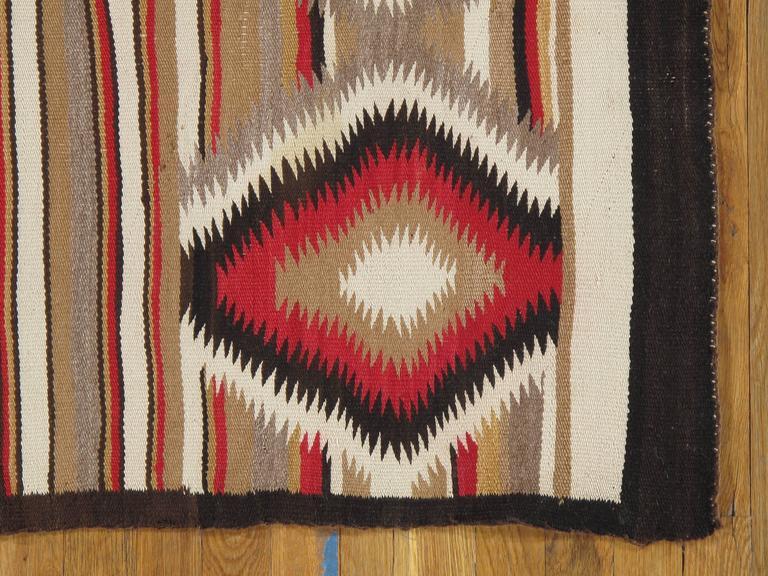 American Antique Navajo Rug, Folk Rug, Red Rug, Oriental Rug, Patterned Rug For Sale
