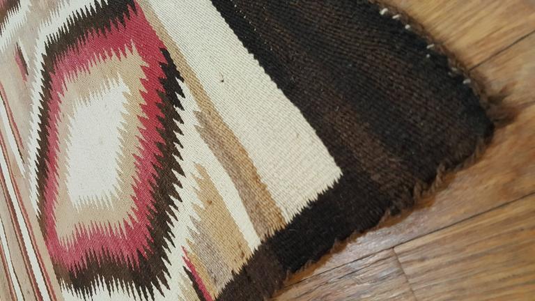 Hand-Knotted Antique Navajo Rug, Folk Rug, Red Rug, Oriental Rug, Patterned Rug For Sale