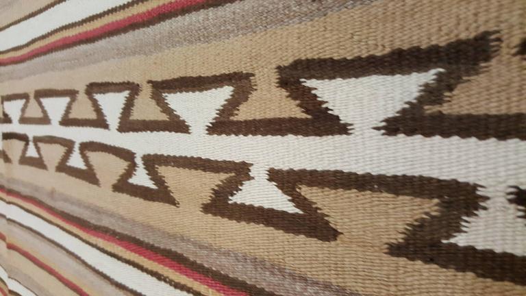 20th Century Antique Navajo Rug, Folk Rug, Red Rug, Oriental Rug, Patterned Rug For Sale
