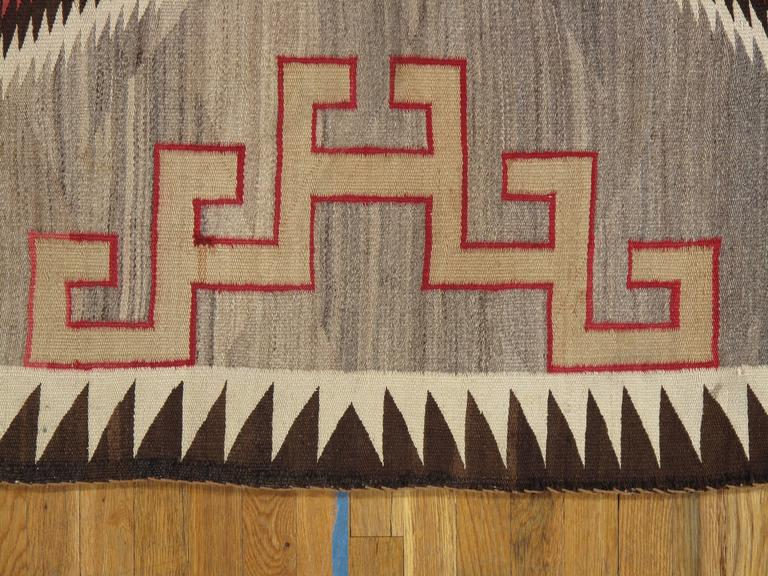 Antique Navajo Rug Handmade Rug Oriental Rug Grey Rug At 1stdibs