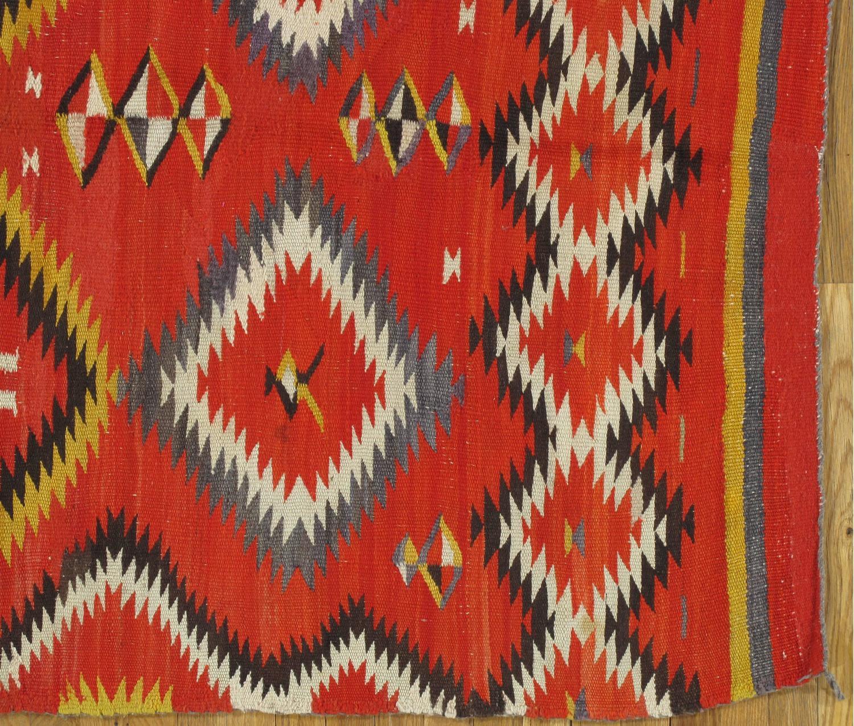 Antique Navajo Blanket, Oriental Rug, Handmade Wool Rug