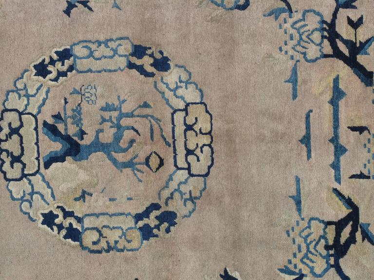 China has a long tradition of carpets and the original ones, probably used as merchandise, are dated at over 2000 years ago. The art of knotting carpets was however, introduced somewhere around the 15th century in China. The patterns on some of the