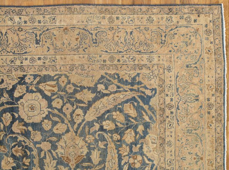 Antique Tabriz rugs are distinguished by their excellent weave and by their remarkable adherence to the classical traditions of Persian rug design. The city of Tabriz, situated in northwest region of Persia, was the earliest capital of the Safavid