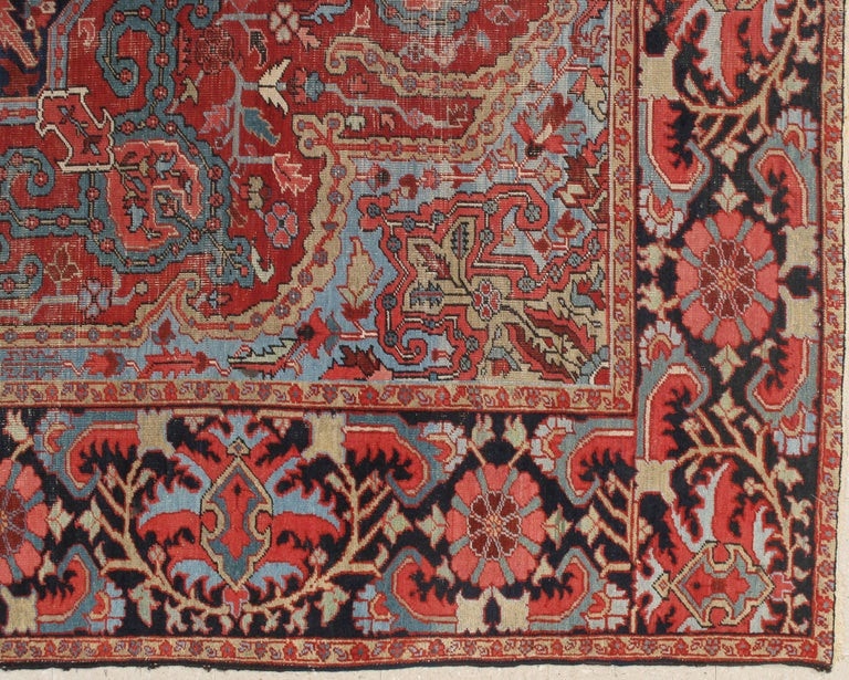 Antique Bakhshaish carpets are one of the most sought after rugs particularly in America and England for many years. Bakhshaish rugs are a major draw particularly in big city America. These carpets were woven on the level of small workshop with