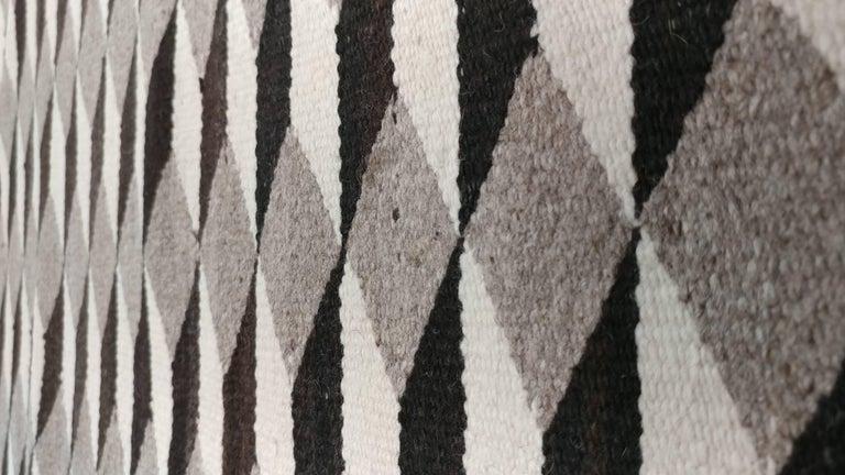 Vintage Navajo Carpet, Folk Rug, Handmade Wool, Beige, Red, Tan 3