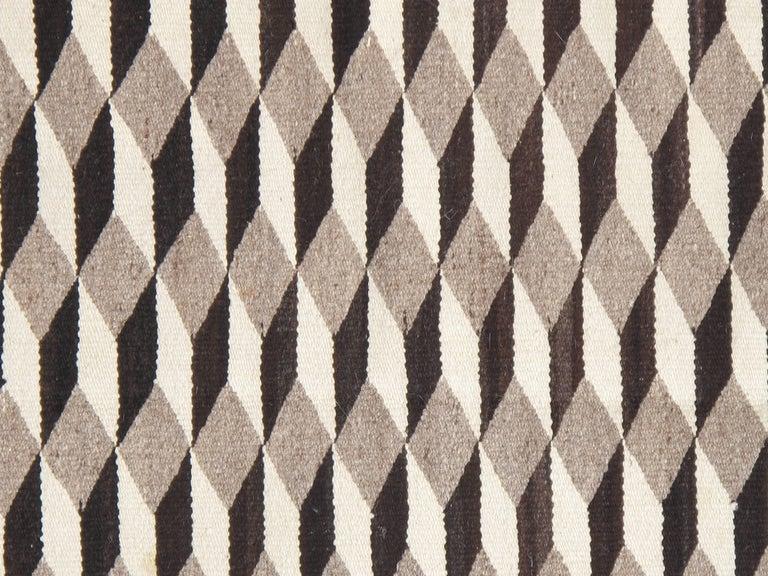 Vintage Navajo Carpet, Folk Rug, Handmade Wool, Beige, Red, Tan 7
