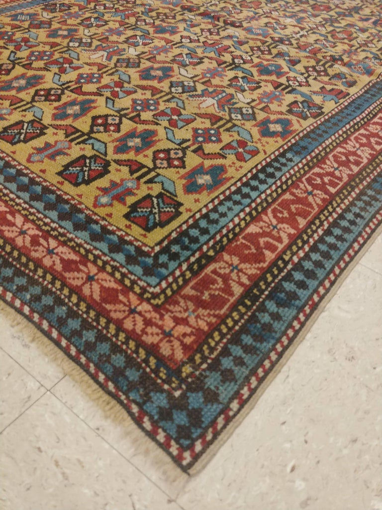Antique Shirvan Rug, circa 1880 Hand Knotted, Wool Oriental Rug For Sale 1