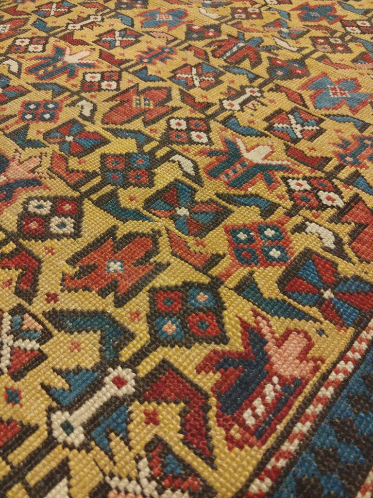 Russian Antique Shirvan Rug, circa 1880 Hand Knotted, Wool Oriental Rug For Sale