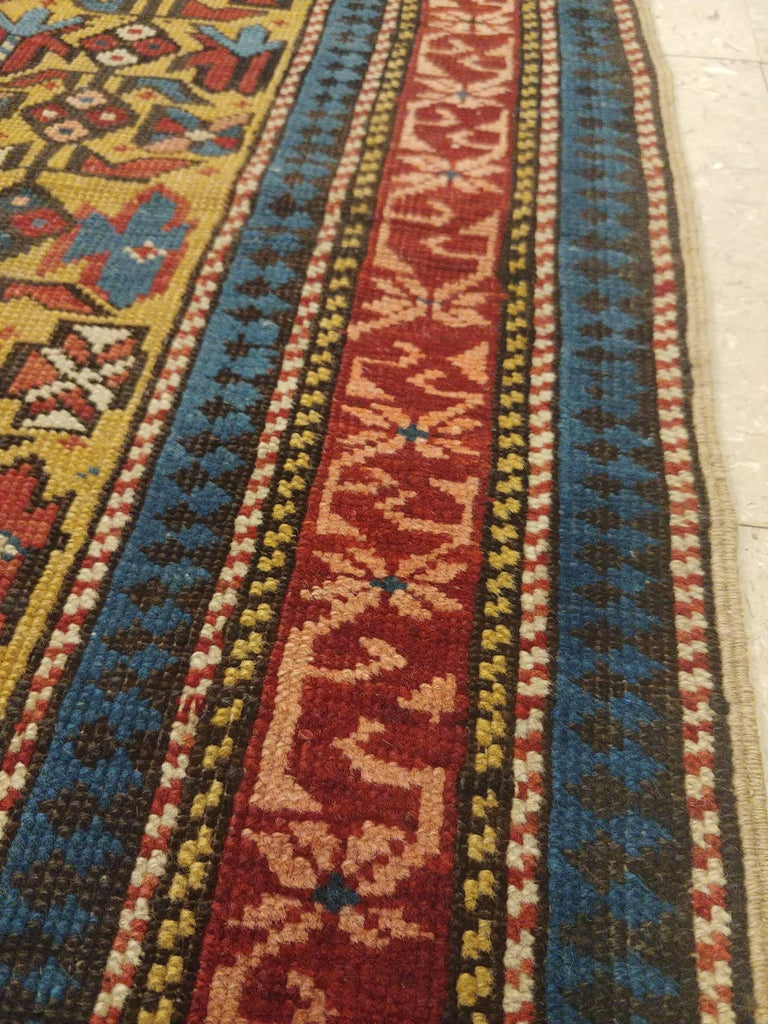 Antique Shirvan Rug, circa 1880 Hand Knotted, Wool Oriental Rug For Sale 3