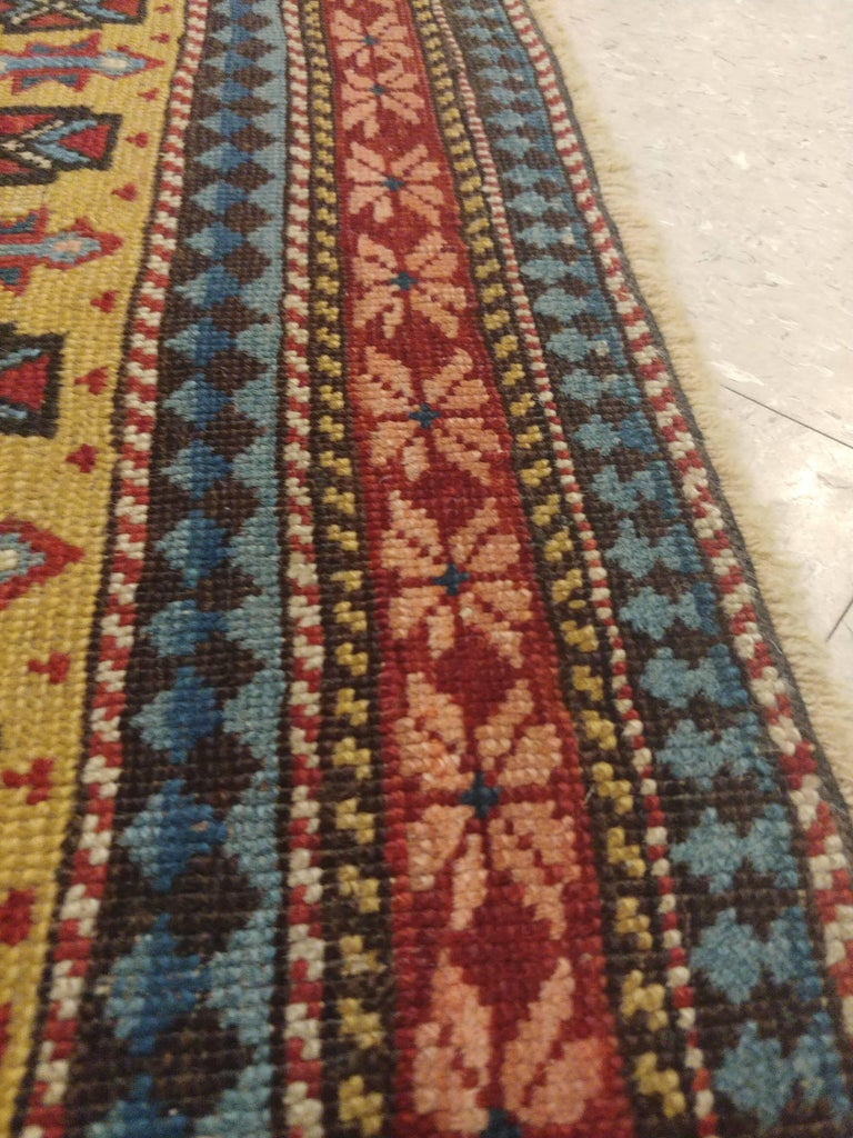 19th Century Antique Shirvan Rug, circa 1880 Hand Knotted, Wool Oriental Rug For Sale