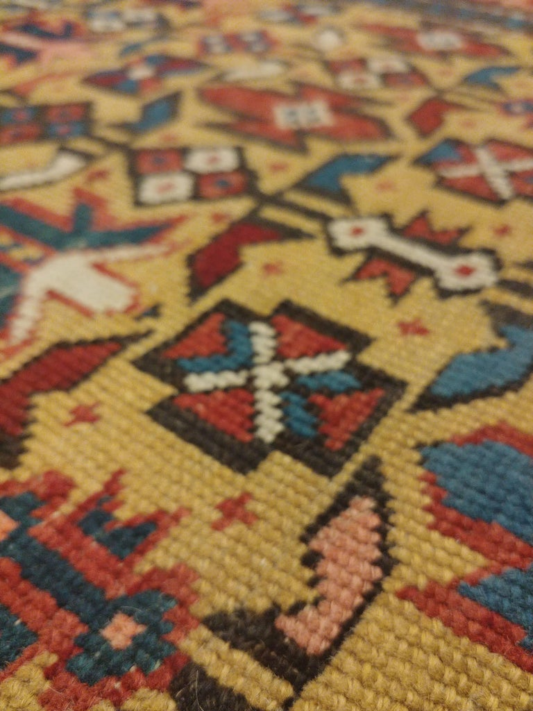Antique Shirvan Rug, circa 1880 Hand Knotted, Wool Oriental Rug In Good Condition For Sale In New York, NY