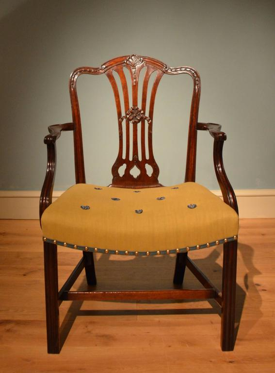 Georgian Ten 18th Century Dining Chairs For Sale