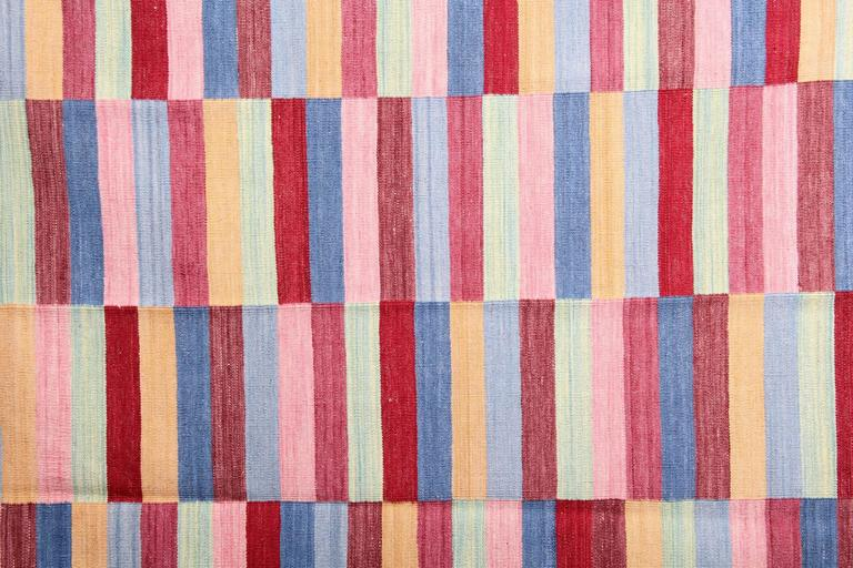 Striped Rug, Afghan Kilim Rugs, Modern Striped Kilim Rugs, In New Condition For Sale In Hampshire, SO51 8BY