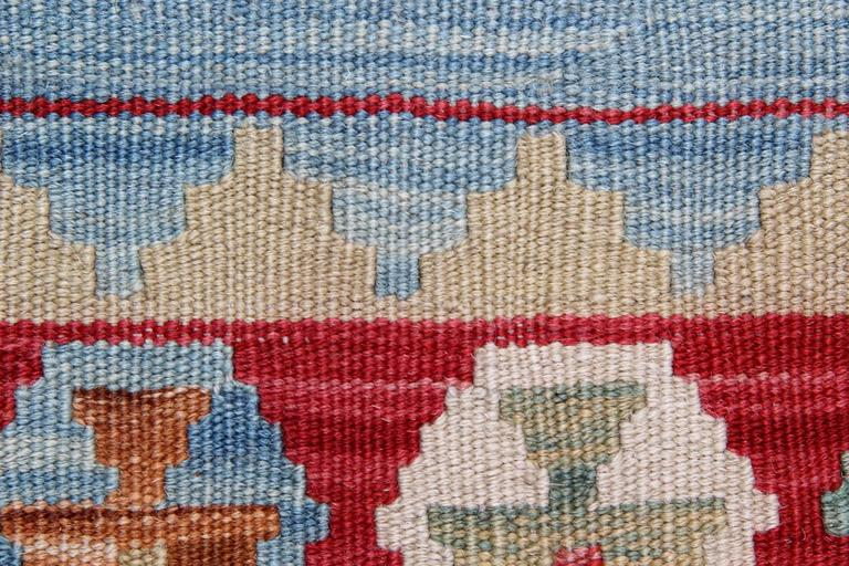 Vegetable Dyed Blue Rug New Kilim Rugs, Traditional Rugs, Carpet from Afghanistan For Sale