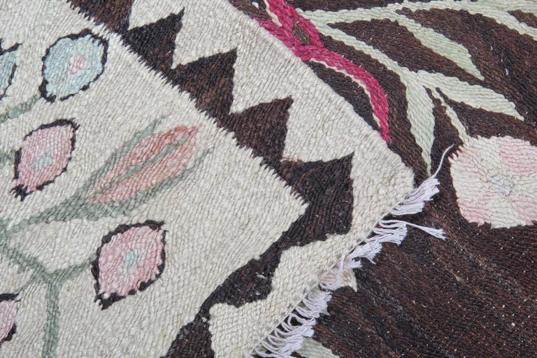 Hand-Crafted Handmade Antique Geometric Bessarabian Rug, Carpet Rugs, Vintage Kilim Rugs For Sale