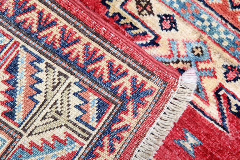 Persian Style Red Rugs Handmade Carpet From Kazak Small Enter Way Door Mat