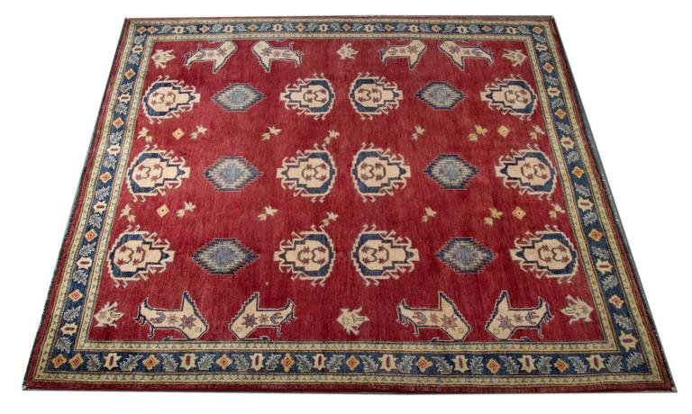 New Traditional Rugs Kazak Square Rugs Carpet From