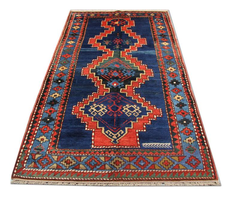 Hand-Woven Antique Caucasian Kazak Rugs For Sale