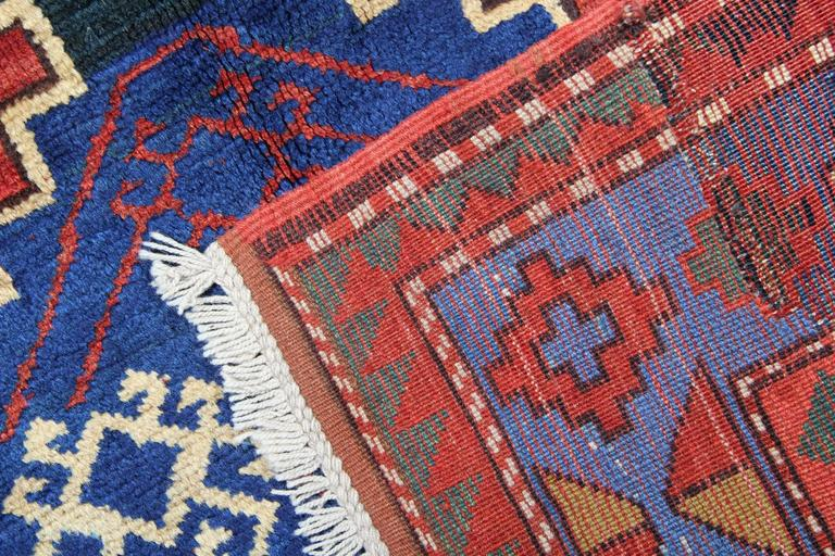 Antique Caucasian Kazak Rugs In Excellent Condition For Sale In Hampshire, SO51 8BY