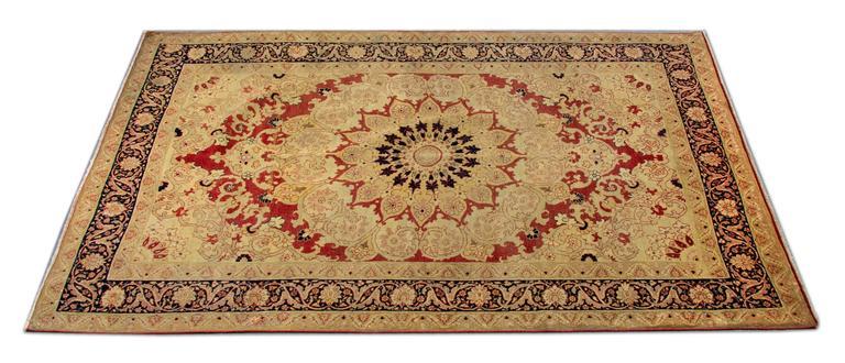 Antique Persian Tabriz Rug at 1stdibs