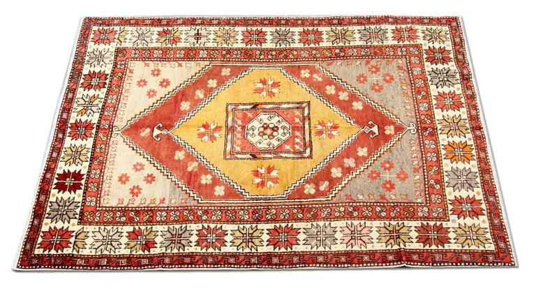 A rare find. This Antique yellow rug is a beautiful old gold ground carpet runner in excellent condition. luxury rug with full pile everywhere, finely woven and full of charm. Patterned rug with all natural colors and vegetable dyed the gold rug has