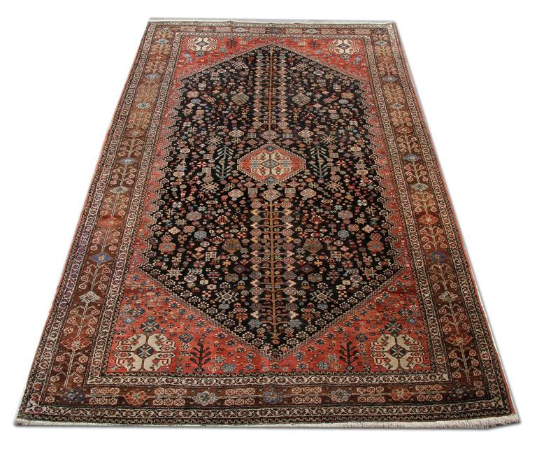 Qashqai Shiraz Rug: Antique Persian Abadeh Shiraz Rug At 1stdibs
