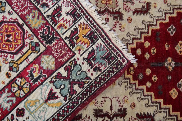 Indian Antique Persian Style Rugs, Agra Carpet Runners from India For Sale