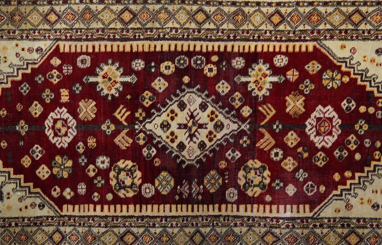 Vegetable Dyed Antique Persian Style Rugs, Agra Carpet Runners from India For Sale