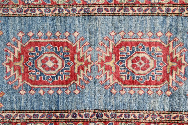Carpet Runners, Kazak Blue Runner Rugs, Large Rugs, Carpet from Afghanistan In New Condition For Sale In Hampshire, SO51 8BY