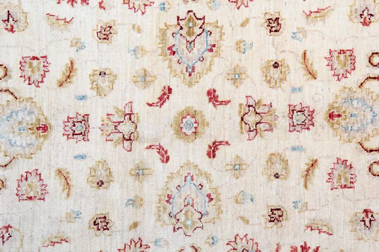 Sultanabad Beige Oriental Rug, Cream Persian Style Rugs, Floral Living Room Rugs