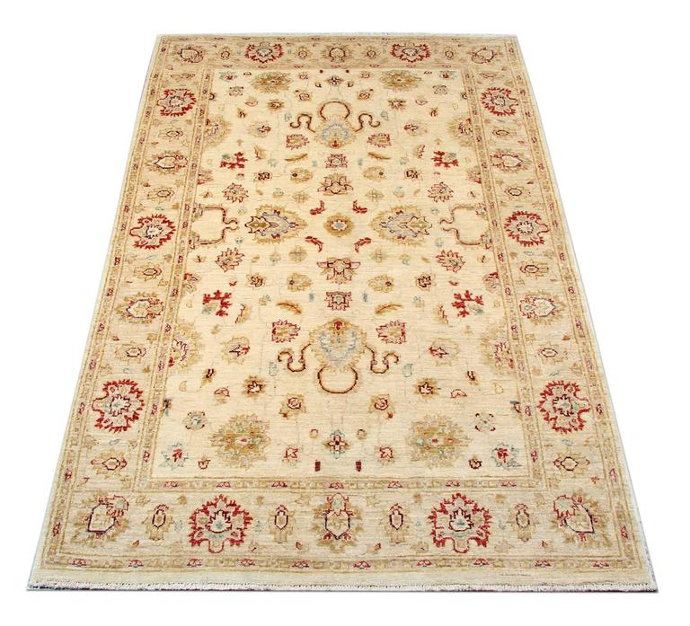 This Floral Patterned rugs kind of our luxury rugs made of own looms by our master weavers of Afghan rugs, This cream rug is made with organic vegetable dyes all hand-spun wool rugs. This carpet rug is kind of patterned rugs all-over floral rugs