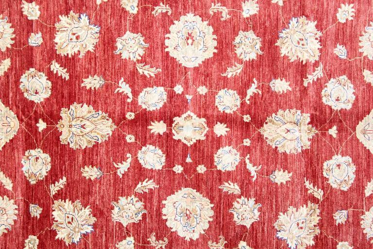 Sultanabad Red Afghan Oriental Rugs Floral Wool Rugs, Suitable as living room rugs For Sale