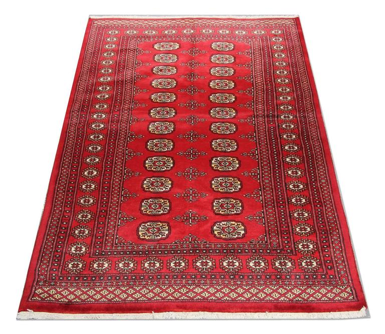 Vintage Mexican Zapotec Rug In Small Size With Stylized: Pakistani Bukhara Rugs At 1stdibs