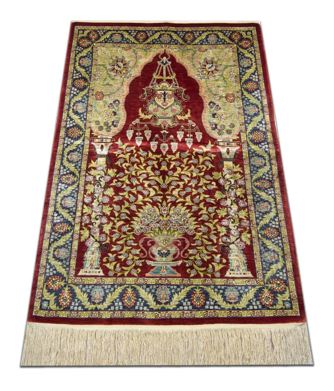 Hereke Silk Rug Youtube: Turkish Hereke Oriental Rug With Weaver's Mark In Small