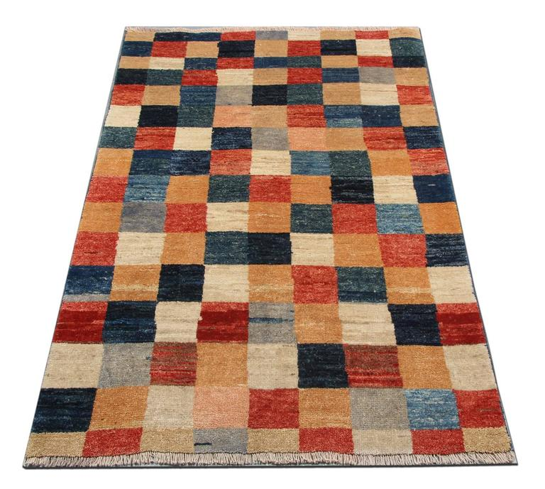 Plaid Rug: Fine Contemporary Modern Plaid Design Rug For Sale At 1stdibs