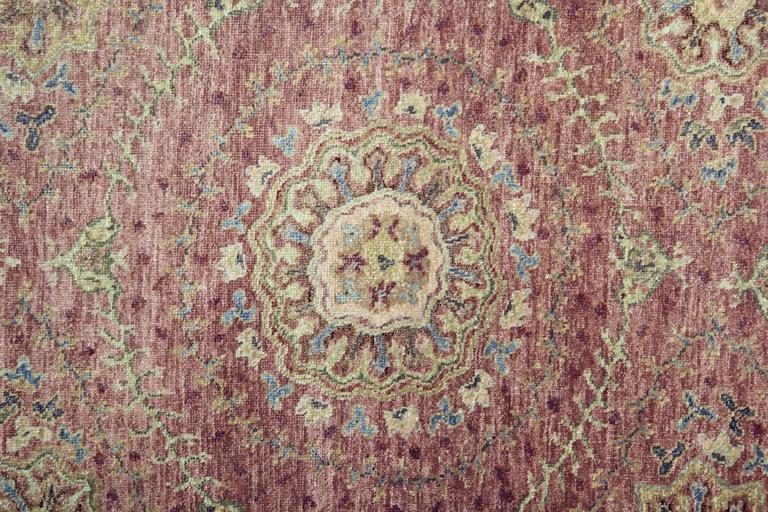 Indian Oriental Rugs, Agra Runner Rugs, Handmade Carpet Runners for Sale For Sale