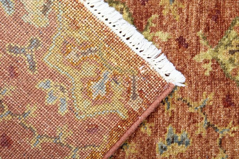 Hand-Crafted Oriental Rugs, Agra Runner Rugs, Handmade Carpet Runners for Sale For Sale