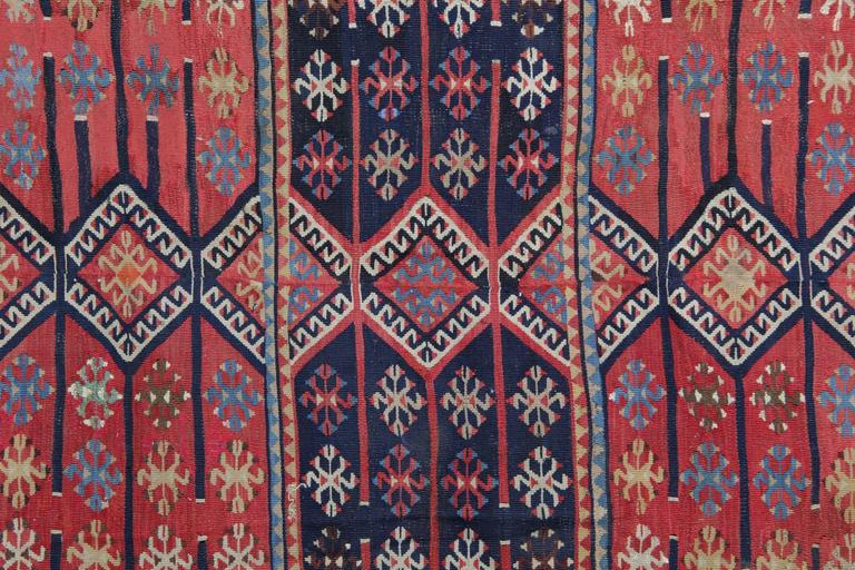 Vegetable Dyed Turkish Rugs, Antique Kilims from Konya For Sale