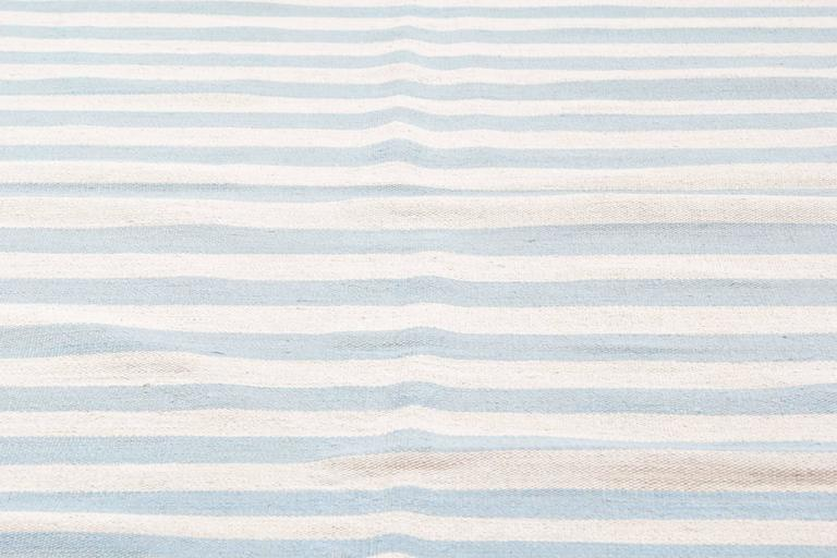 Hand-Crafted Modern Striped Kilim Rugs, Persian Style Rugs, Kilims from Afghanistan For Sale